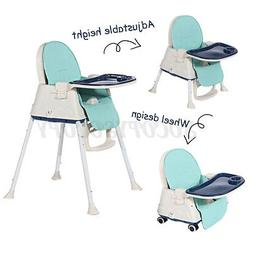 3 in 1 Baby High Chair Adjustable Play Table Seat Booster To