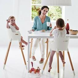 Adjustable Wooden High Chair Baby Highchairs with Tray for I