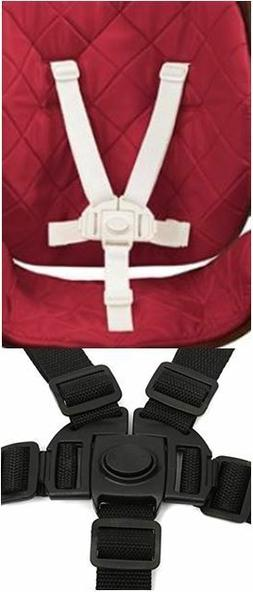 NEW Baby High Chair Seat Safety Strap 5 Point Harness Replac