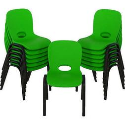 Lifetime Kids Stacking Chair 13pk - Lime, School, Daycare, H