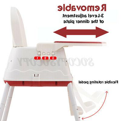 3 High Chair Table Booster Feeding Tray