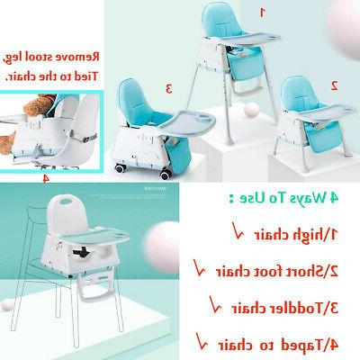 3in1 Baby Chairs Adjustable Feeding Table Seat Highchair