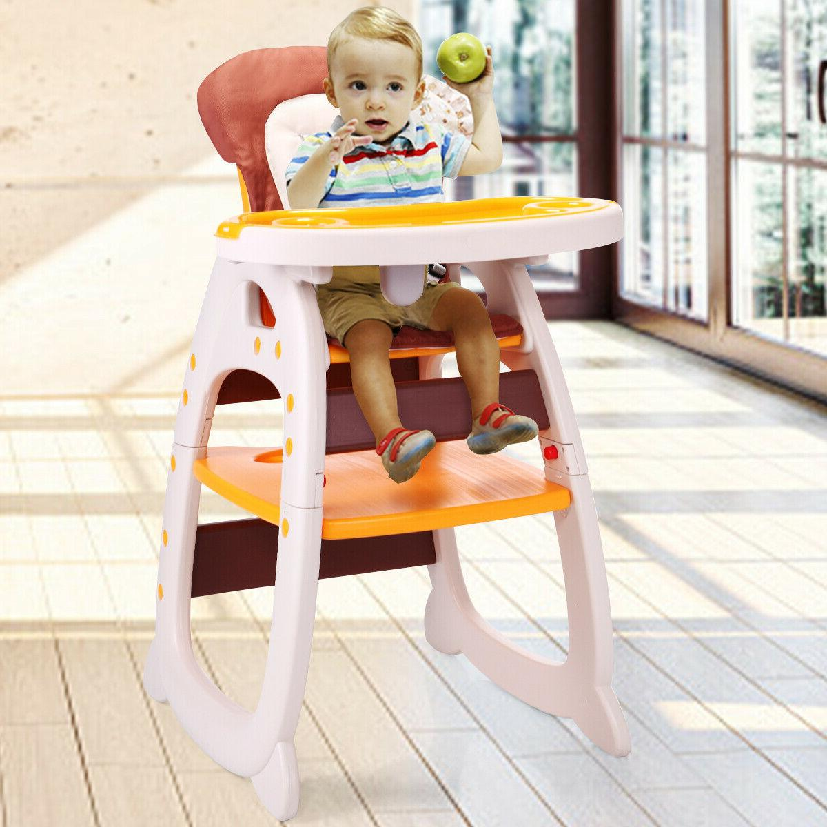 Baby High Table 3 Convertible Play w/Tray 3Color