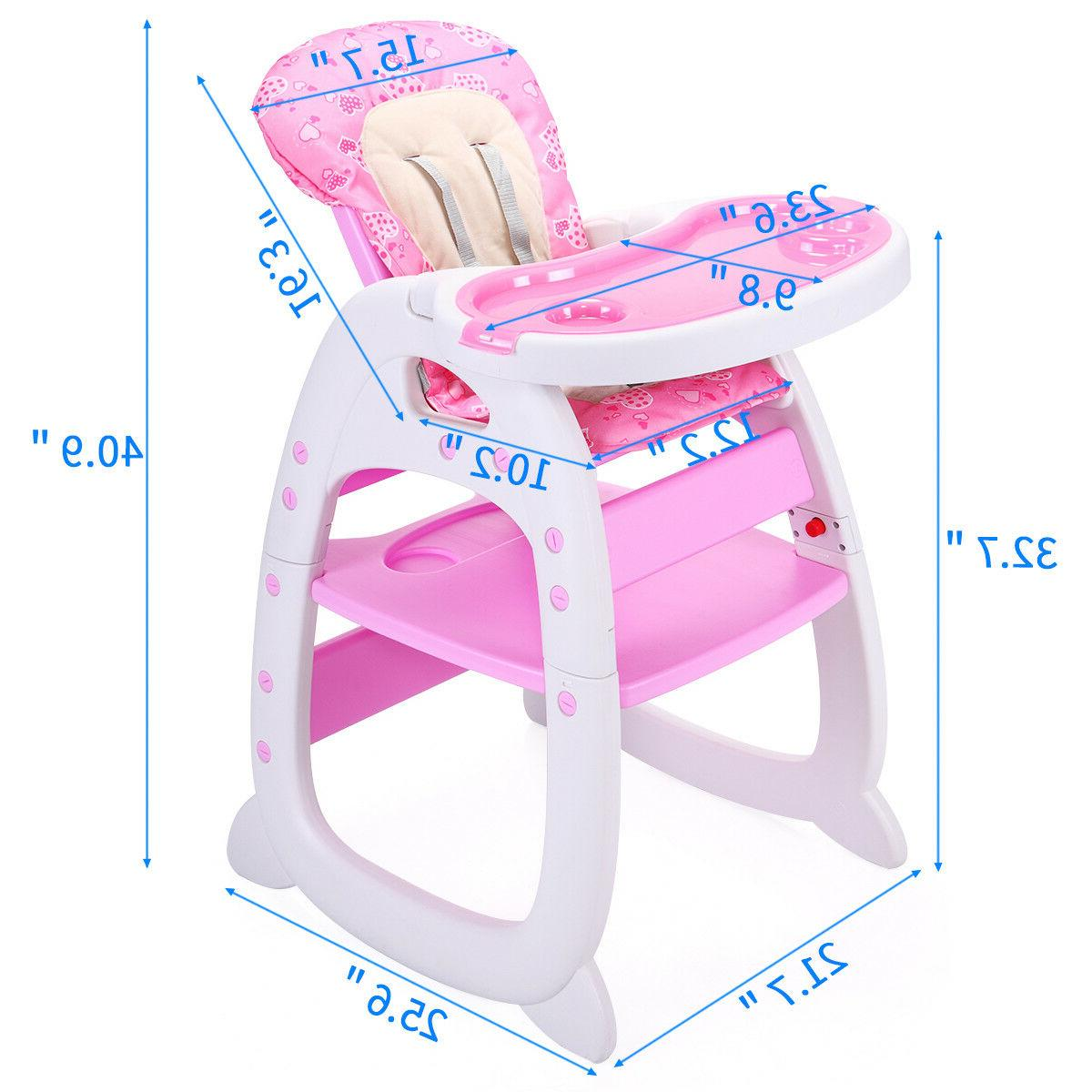 Baby High Chair w/Tray 3Color