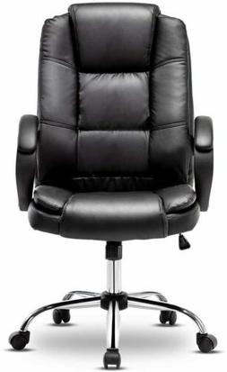Leather Office Chair Swivel Computer Home Executive Gaming D