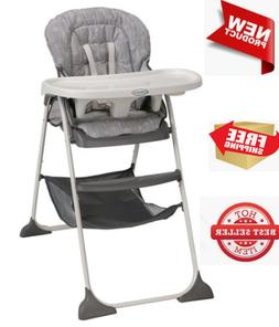 NEW Graco Slim Snacker Fast-Folding High Baby Chair, Whisk,
